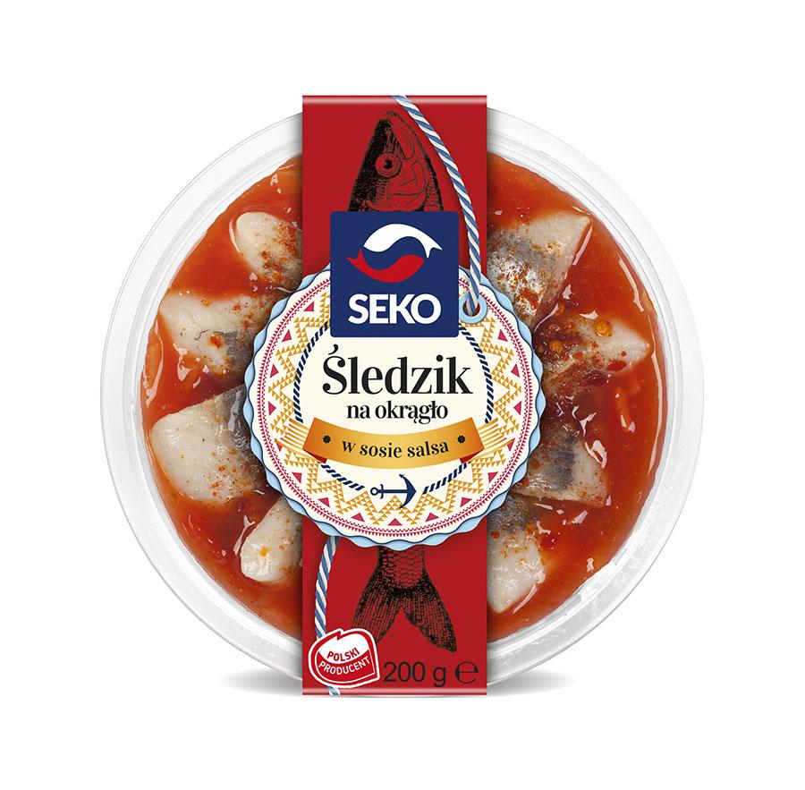 Śledzik na okrągło w sosie salsa