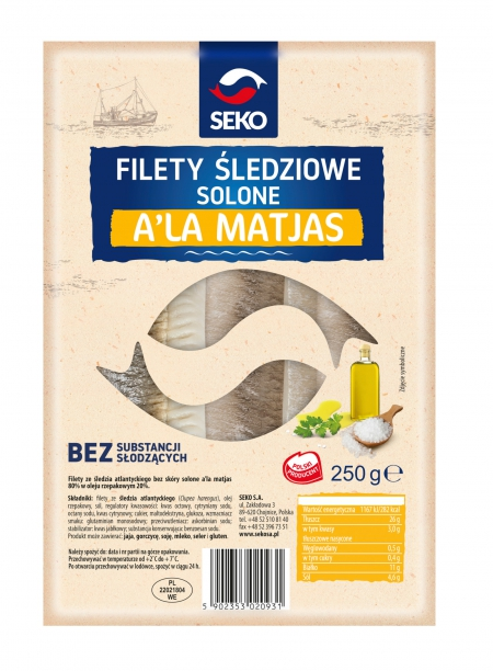 Filety śledziowe lekko solone a'la matjas w oleju - TACKA