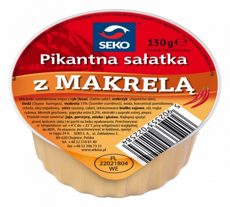 Pikantna sałatka z makrelą