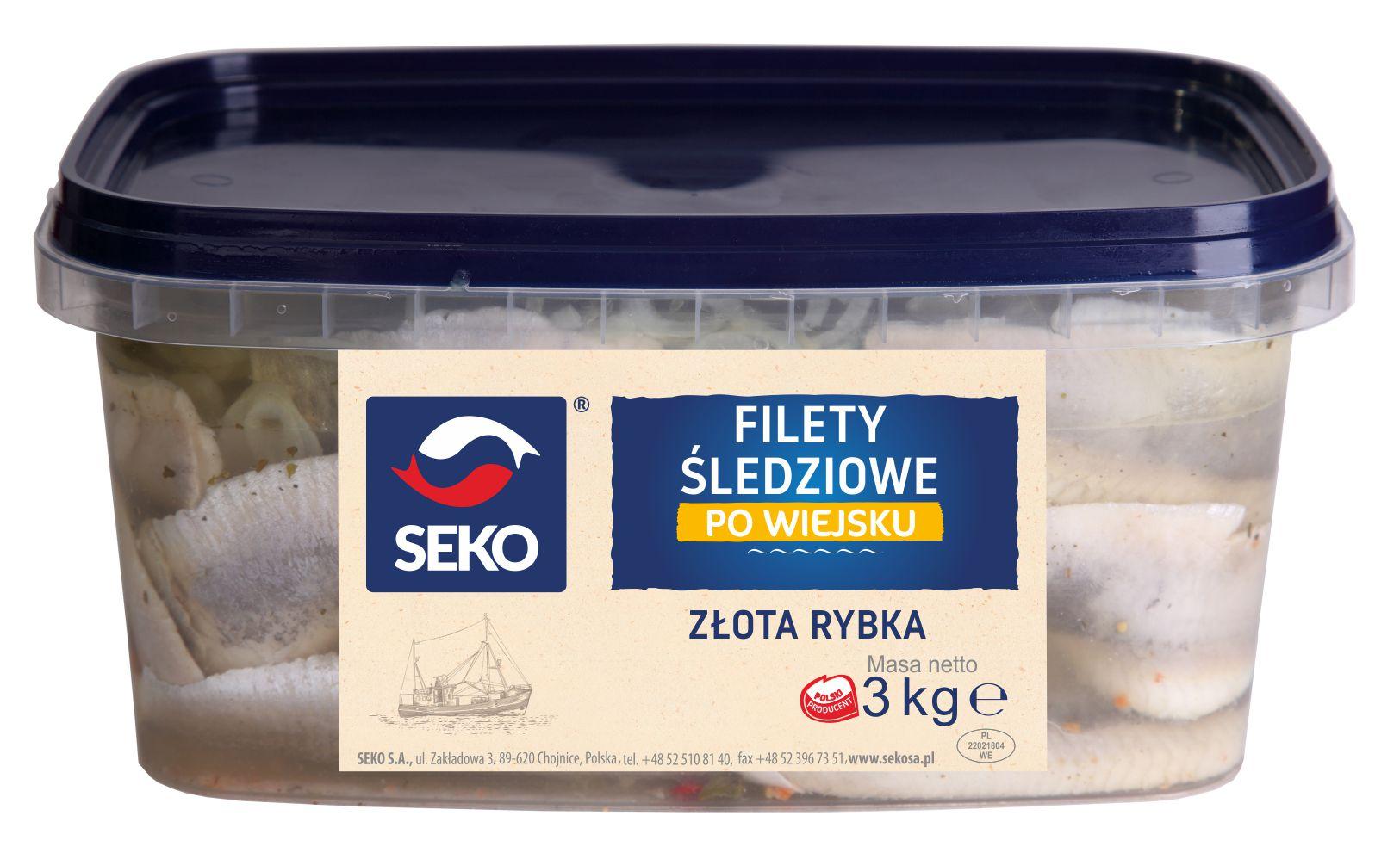 Filety śledziowe z olejem wiejskim - ZŁOTA RYBKA