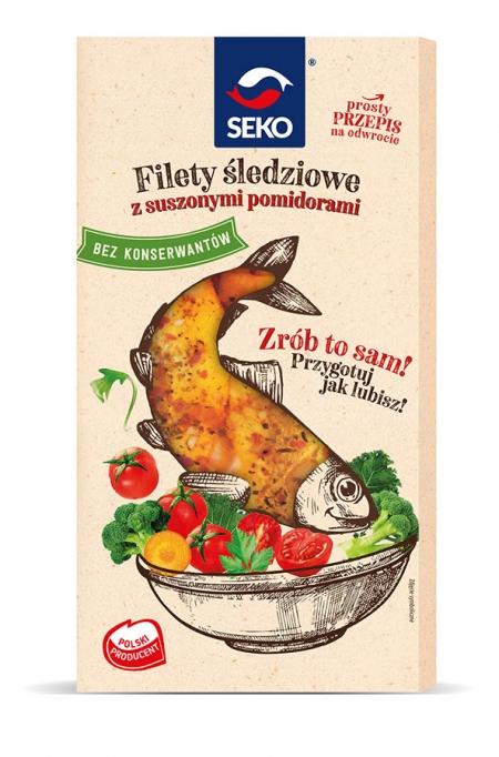 Filety śledziowe z suszonymi pomidorami