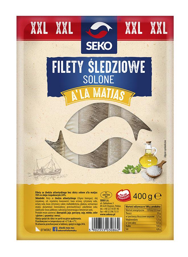 Filety śledziowe solone a'la matjas w oleju
